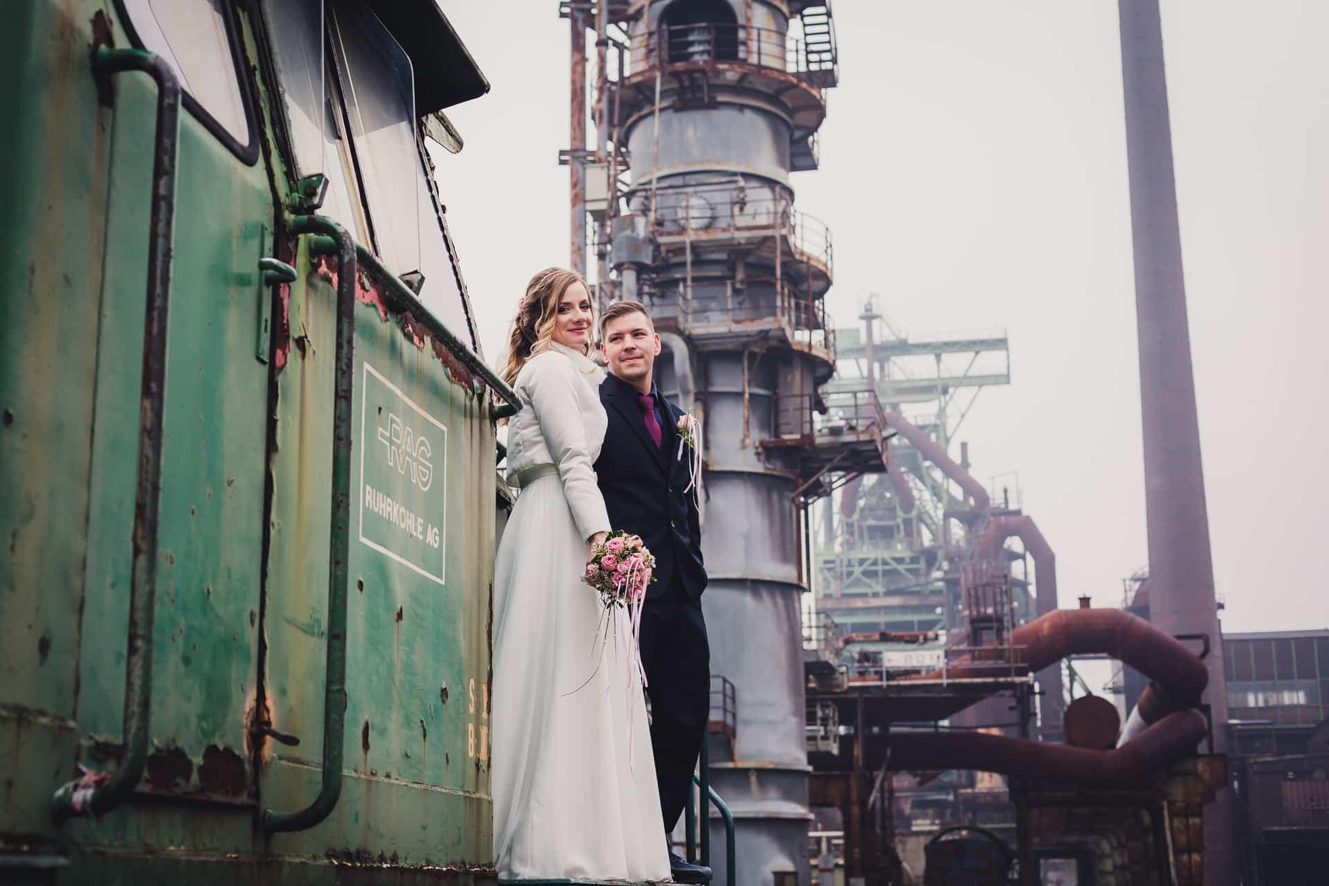Hochzeitsfotograf Ruhrgebiet - Hochzeit im LWL Museum Henrichshütte Hattingen