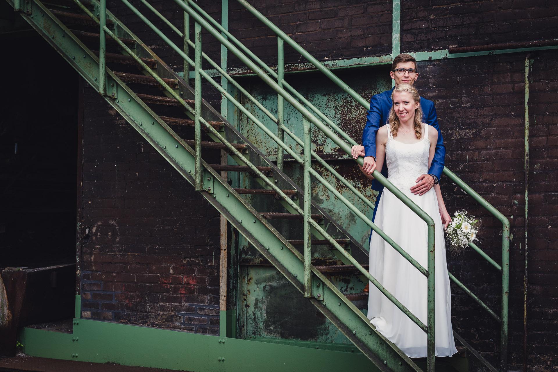 Hochzeitsfotograf Ruhrgebiet - Hochzeitspaar Henrichshütte