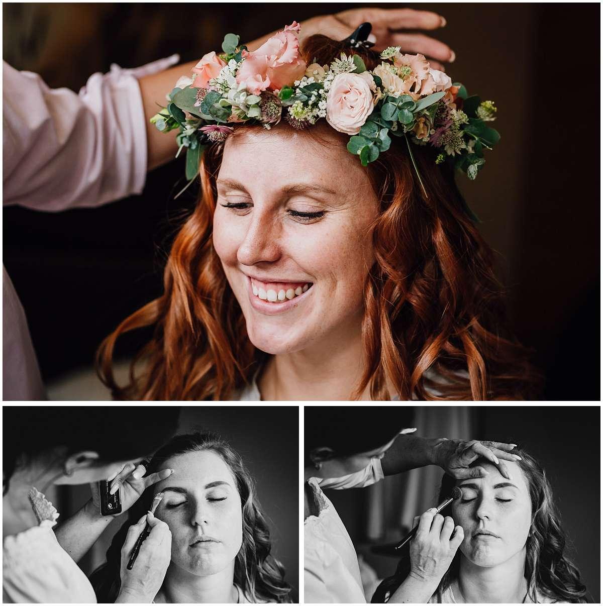 Getting Ready der Braut im Hotel vor der freien Trauung