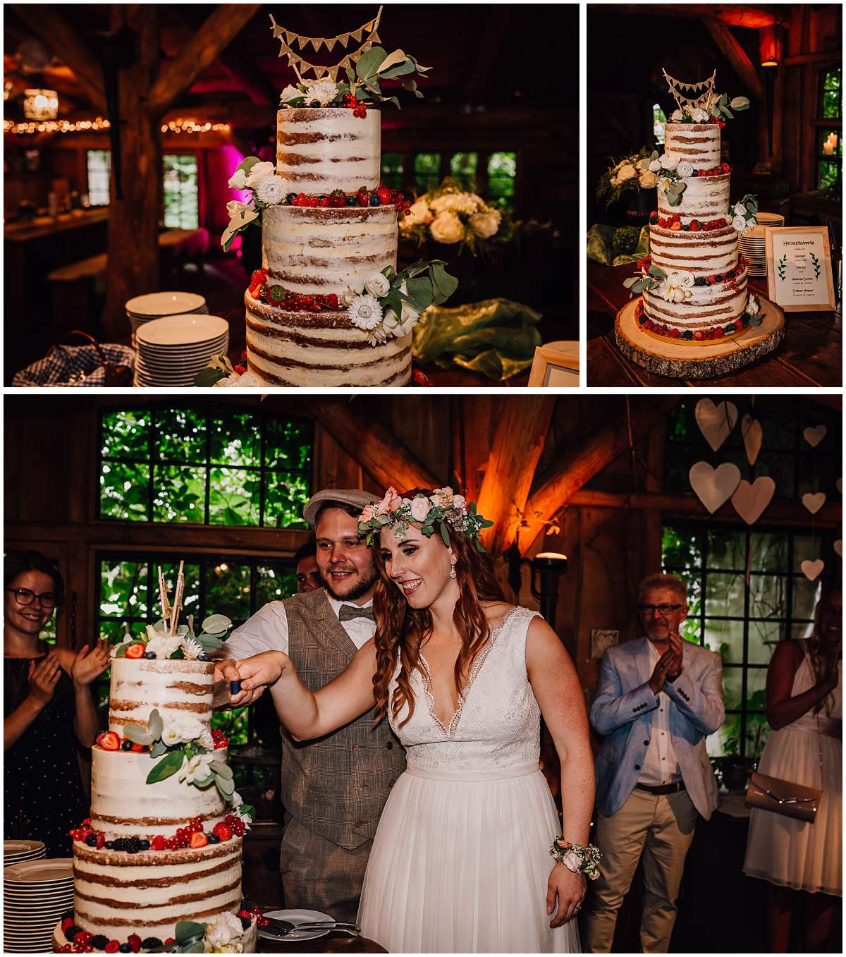 Hochzeitstorte auf einer Hochzeit auf dem Eventbauernhof Sprikeltrix in Erwitte