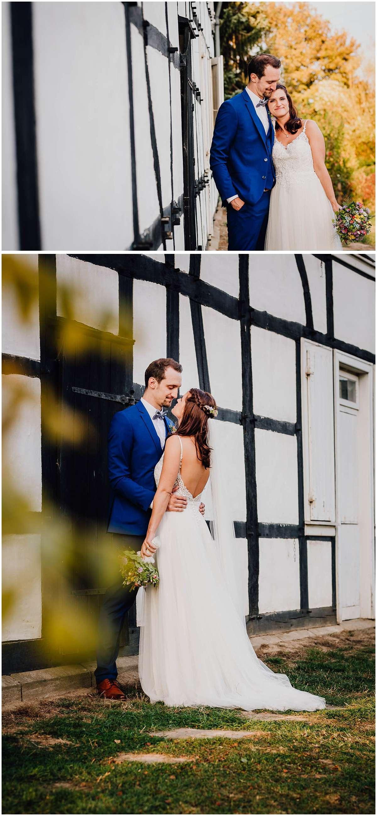 Hochzeitsfotos an der Wasserburg Haus Kemnade in Hattingen