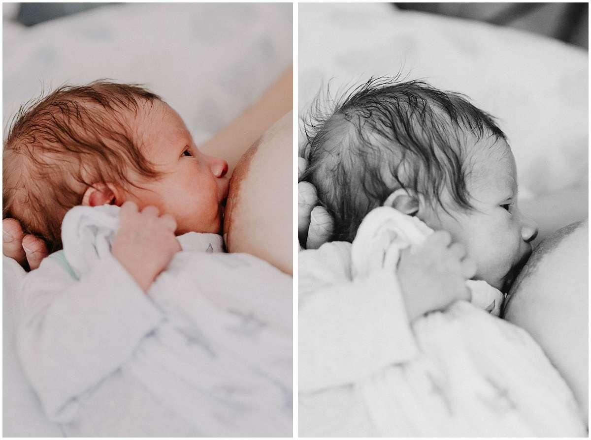 Neugeborenenreportage und Stillfotos in Bochum