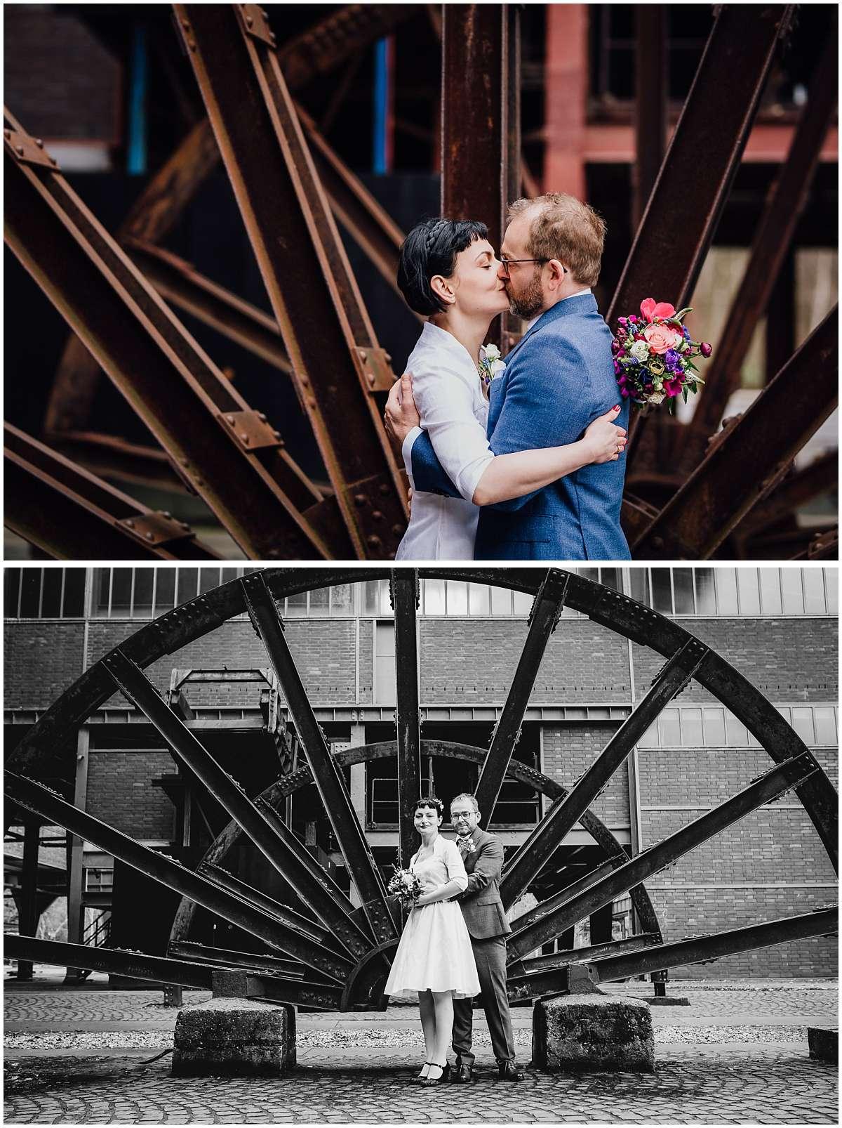 Hochzeitsfotos auf Zeche Zollverein in Essen
