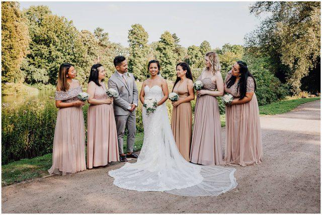 Hochzeitsfotograf Gelsenkirchen Schloss Berge Brautjungfern Bridemaids