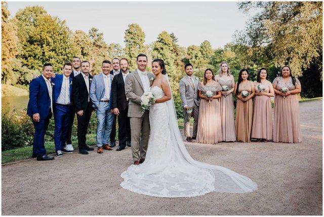 Hochzeitsfotograf Gelsenkirchen Schloss Berge Groomsmen Bridemaids