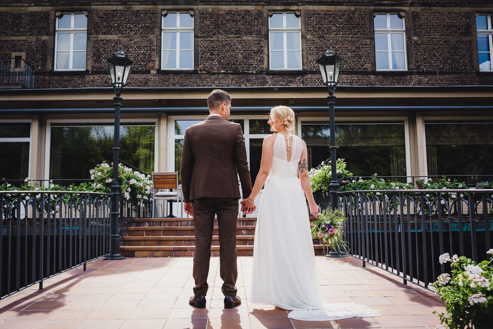 Hochzeit Schloss Hugenpoet Essen Hochzeitsfotos Brautpaar