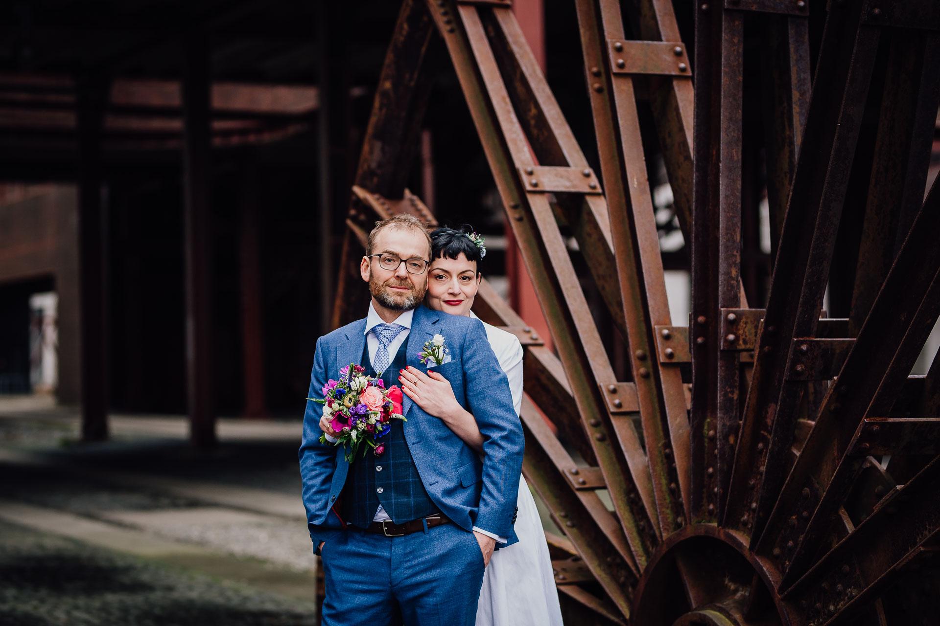Zeche Zollverein Essen Hochzeitsfotos Brautpaarfotos Brautpaarshooting