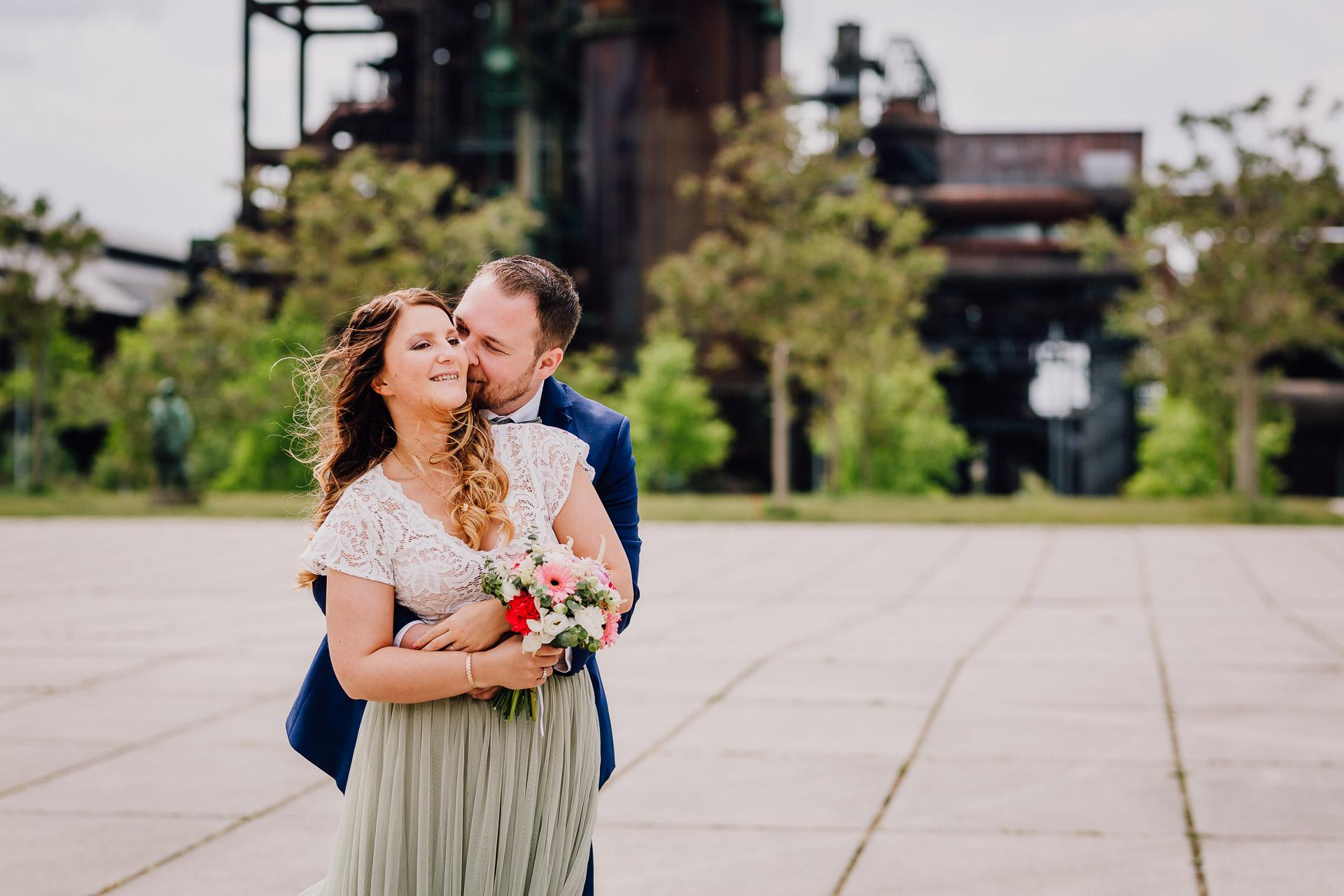 Hochzeitsfotograf Dortmund Hochzeitsfotos Brautpaarshooting Phoenix West Dortmund