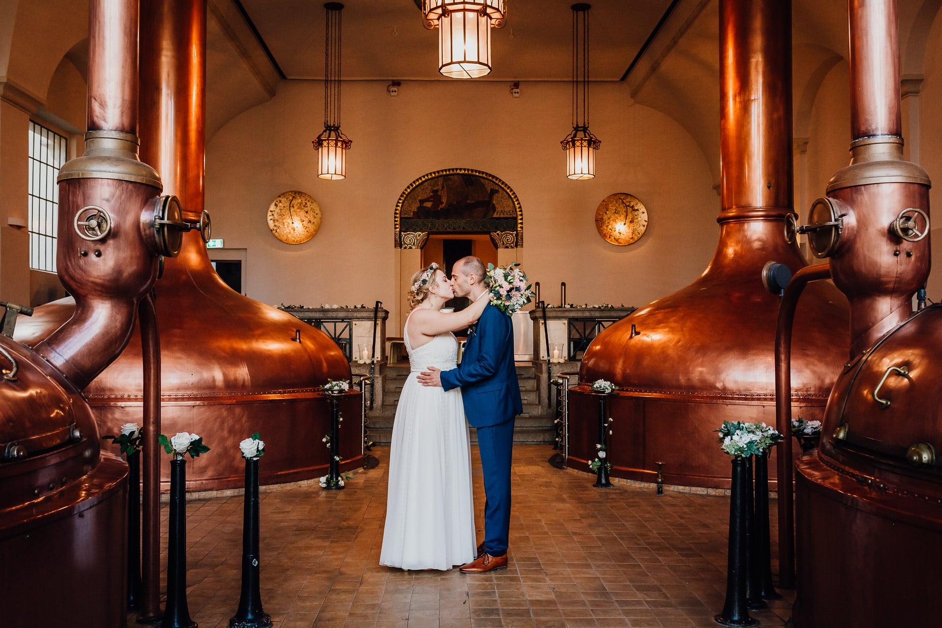 Hochzeitsfotograf Dortmund Hochzeitsfotos Standesamt Historisches Sudhaus der Brauerei Hansa Dortmund