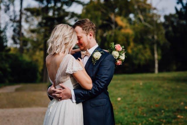 Herbstliches Brautpaarshooting im Park