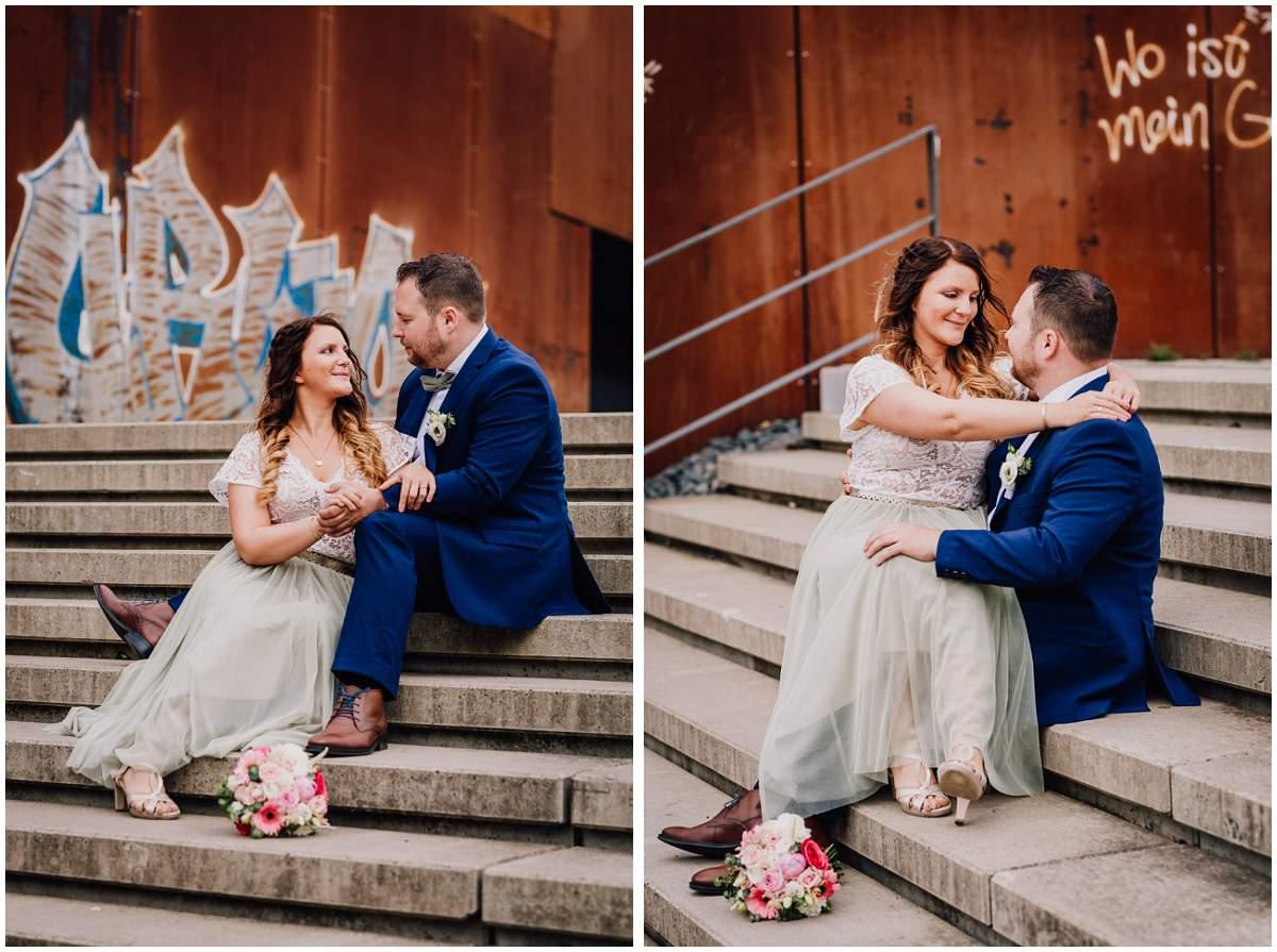 Hochzeitsfotos Dortmund Brautpaarshooting Phoenix West Gelände Dortmund Ruhrgebiet